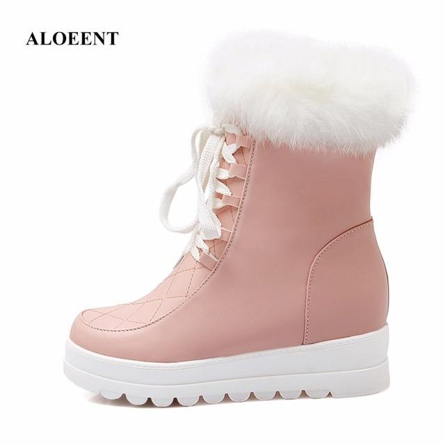 Hiver Haute Femmes Bottes de Neige en peluche Chaud Dame chaussures Plus La taille 35 à 42 facile porter zipper up fille chaud boot