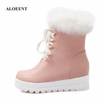 Winter High Women Snow Boots Plush Warm Lady Shoe Plus Size 35 To 42 Easy Wear