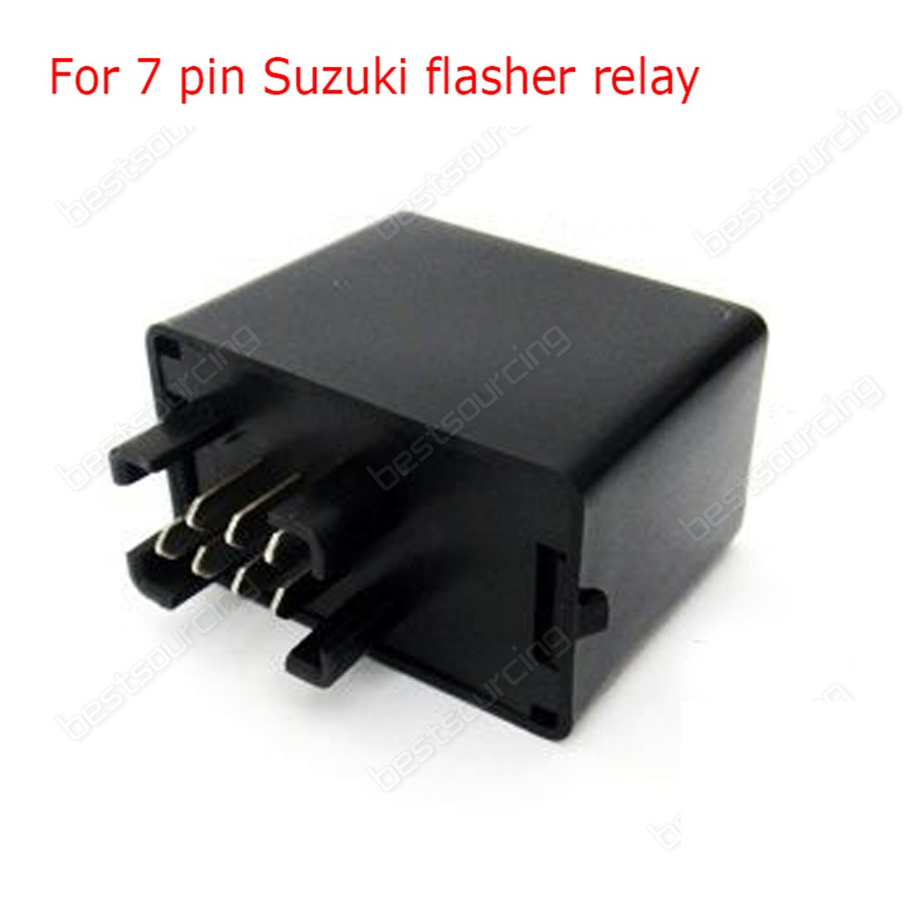 High Quality 7 Pin Turn signal Flasher Relay Fr LED Indicator  GSXR Bandit 600 750 1200 GSX 1400( (Fits: Suzuki)) (CA199) 12v 3 pins adjustable frequency led flasher relay motorcycle turn signal indicator motorbike fix blinker indicator p34