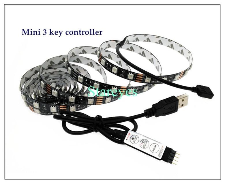 HTB1uSOVcA9WBuNjSspeq6yz5VXay SMD 5050 RGB LED Strip DC 5V USB LED Light Strips Flexible IP20 IP65 Waterproof Tape 1M 2M 3M 4M 5M add Remote For TV Background