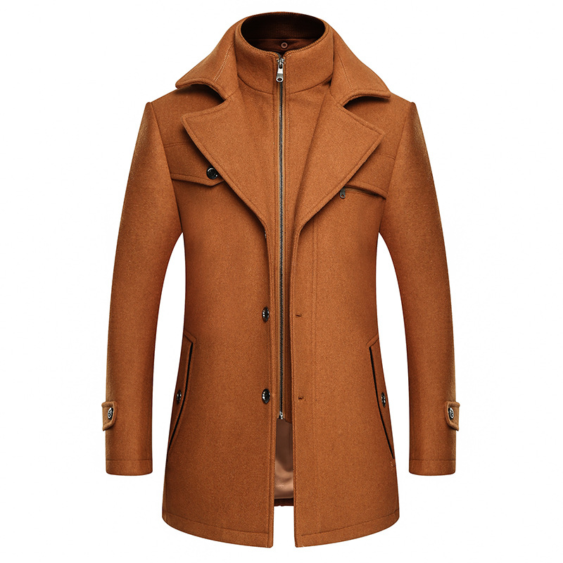Casual Thicken Warm Mens Winter Coat Men