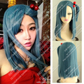 Hot Sale Anime Dragon Ball Z Bulma Modeling Style Blue Cosplay Costume Wig Dragonball COS Heat Resistent Pelucas with Hairband