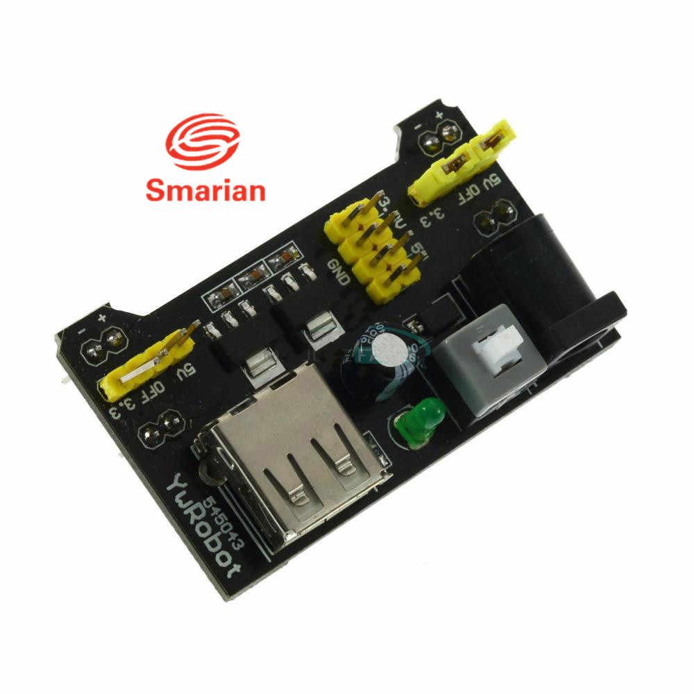 Módulo de fuente de alimentación oficial Smarian envío gratis MB102 Power MB102 3,3 V 5 V para Arduino Placa de prueba sin soldadura