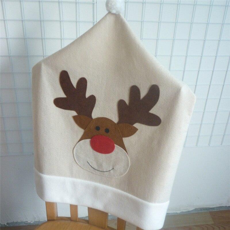 1 шт. 50x60 см Симпатичные Лось стул Чехлы для мангала для рождественской вечеринки ужин Украшение стола Забавная детская подарки для дома и са...