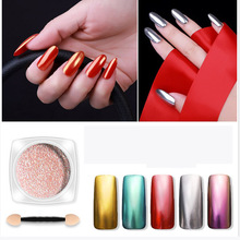 1G/BOX Magic Mirror DIY Nail Art Decorations Powder Glitter Metallic Shine  Pigment For Nails