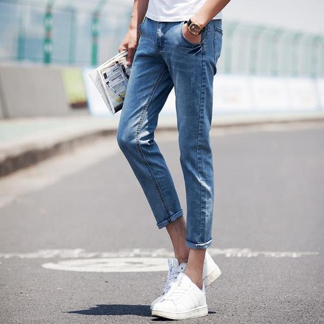 eb53aa535 plus size jeans men slim fit skinny jeans capris denim pants men,calca  jeans masculina,pantalones vaqueros hombre,jeans homme