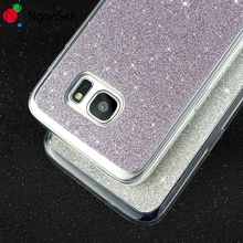 Glitter Powder Diamond Phone Soft Case For Samsung S6 S7 Edge