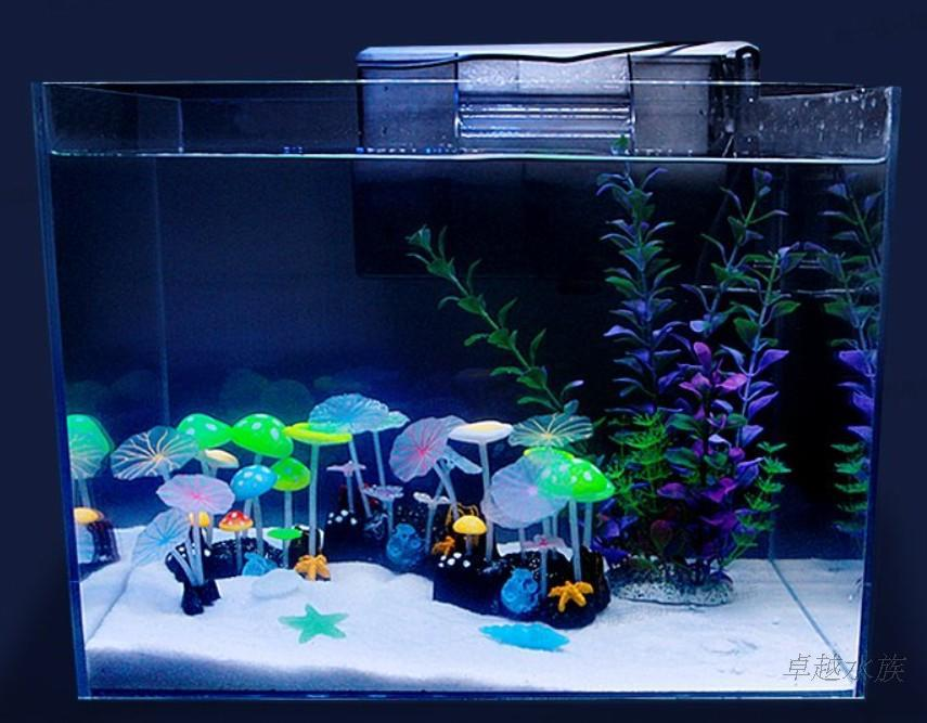 Fish aquarium decoration home decorating ideas - Fish tank christmas decorations ...