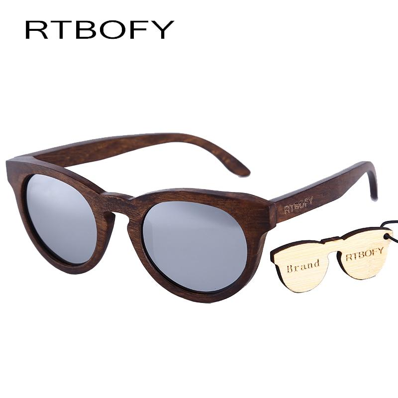 13dfb7487e RTBOFY Women Sunglasses New Cat eye Brand Design wood sunglasses Cateye  Fashion sun glasses lady EyewearDB55