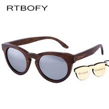RTBOFY Women Sunglasses New Cat eye Brand Design wood sunglasses  Cateye Fashion sun glasses lady EyewearDB55
