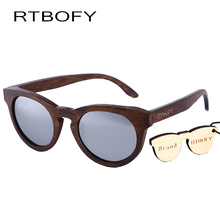 RTBOFY Women Sunglasses New Cat eye Brand Design wood sunglasses  Cateye Fashion sun glasses lady EyewearDB55