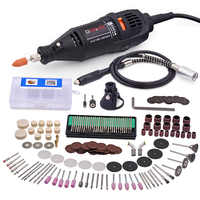 GOXAWEE 220V Electric Mini Drill Dremel Engraver Grinder Variable Speed Power Tool Grinding Machine With Rotary Tool Accessories