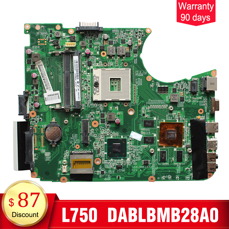 YTAI DABLBMB28A0 A000079330 for Toshiba Satellite L750 L755 Motherboard HM65 USB3.0 DABLBMB28A0 A000079330 mainboard 100% tested v000138700 motherboard for toshiba satellite l300 l305 6050a2264901 tested good