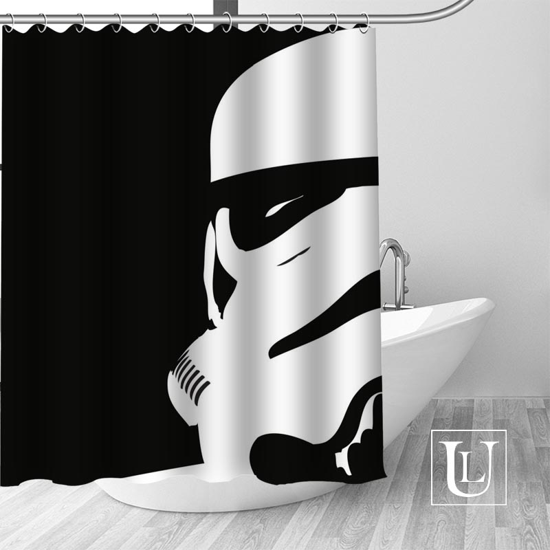 Detail Feedback Questions About High Quality Custom Star Wars Shower Curtain Polyester Fabric Bathroom Hooks Mildew Resistant Decor On
