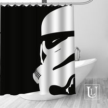 High Quality Custom Star Wars Shower Curtain Polyester Fabric Bathroom Hooks Mildew Resistant Decor