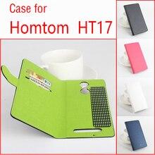 Дважды цветов case для homtom ht17 case оригинальный роскошный кожа поперечная флип чехлы для homtom17 телефон держатель случаи карты