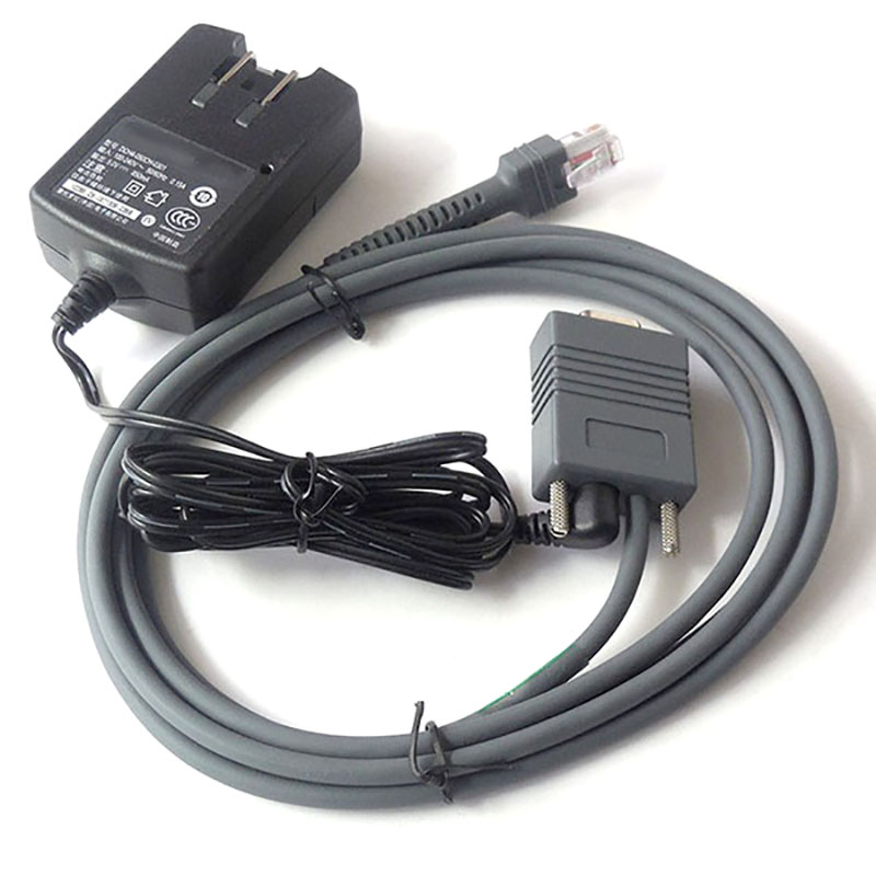 LS2208 Scanner 2M Rs232 Come With Power Adapter cable For Motorola Symbol LS2208 LS4208 DS6708 Barcode Scanner hwexpress hot 1 5m vga 15 pin male to 3 rca rgb male video cable adapter