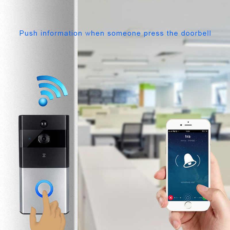 Sonnette WIFI interphone sans fil   Porte vidéo, 720P, sonnette de porte, caméra, batterie CCTV, sécurité PIR visuel, interphone, caméra IP