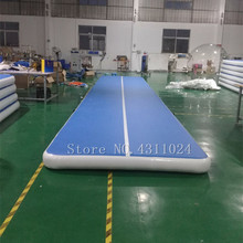 Inflatable Gymnastics Tumbling Mat Air Track Floor Mats 6*1*0.2m with Pump for Home Use/Training/Cheerleading/Beach/Park