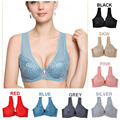 Plus size Push up Ultra thin Sexy Large Cup Big Size Bra Plus Size Full Cup bra 80-100 C D Cups Adjustable  Women Underwear H104