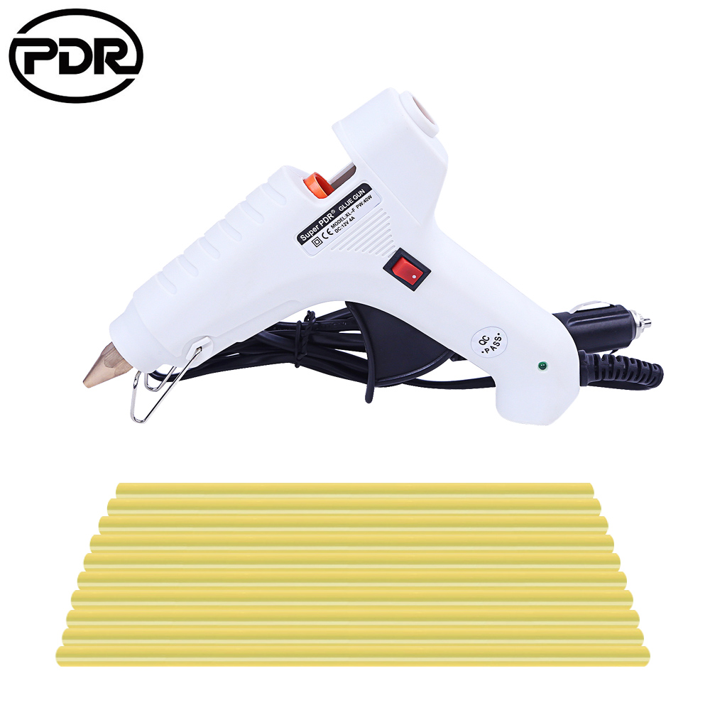 PDR Tools Glue Gun 12V 60W Heat Gun PDR Hot Melt Glue Sticks Paintless Dent Repair Tools Hand Tool Set PDR Toolkit Herramentas коврик для ванной iddis curved lines 50x80 см 402a580i12 page 2