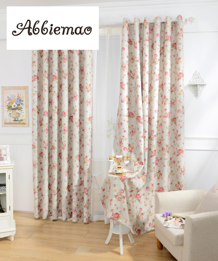 Abbiemao Korean Pastoral And Floral Printing Curtains For