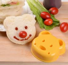 New DIY Kitchen Gadgets Sandwich Sushi Rice Breakfast Cookies Mold Cute Bear Shape Cake Bread Toast Baking Tools Kitchenware