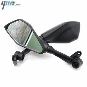 Image 5 - Universal รถจักรยานยนต์สีดำกระจกสกูตเตอร์กระจกด้านหลัง Moto ด้านข้างสำหรับ Kawasaki Z750 Z800 Z900 Z300 Z650 ER6N ER6F ZX10R