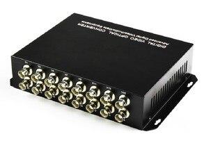 Image 3 - 1 par 2 peças/lote 16 canais de vídeo conversor óptico 16v1d fibra óptica vídeo transmissor óptico & receptor 16ch + rs485 dados