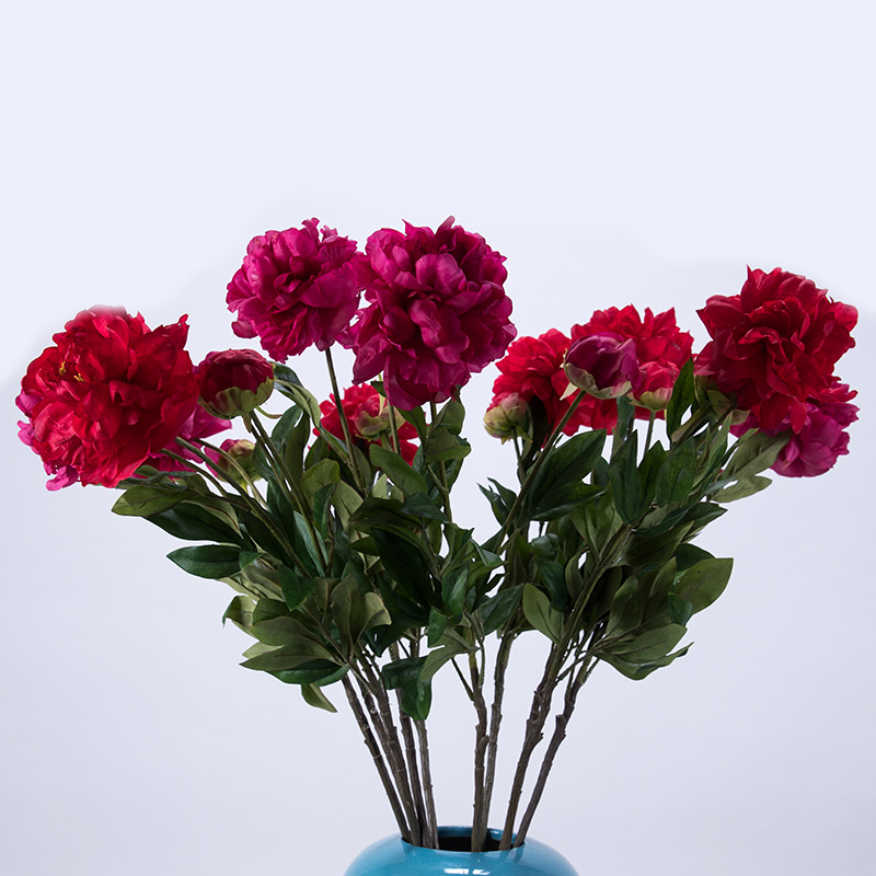 Height quality silk flower artificial decorative wedding flower height quality silk flower artificial decorative wedding flower bouquet simple style easy cleaning large size peony in artificial dried flowers from home mightylinksfo