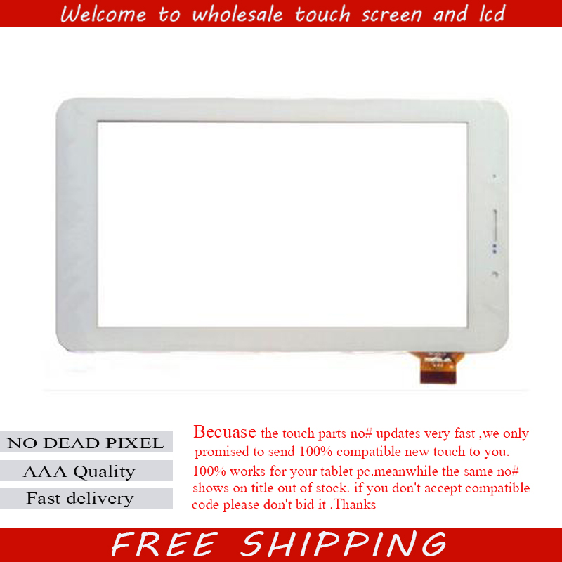 New White 7 inch Turbopad 722 Tablet Touch Screen Panel glass Sensor Digitizer Replacement Free Shipping new white 10 1 inch tablet 10112 0b50550 touch screen panel digitizer glass sensor replacement free shipping