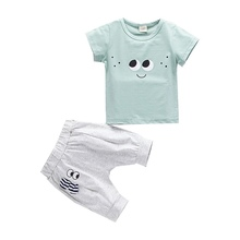 2019 New Baby Boys Girls Summer Toddler Sets Cotton Cartoon T-Shirt Short 2PCS Children Clothes Kids Costume Clothing For 0-4Y цена