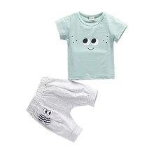 2019 New Baby Boys Girls Summer Toddler Sets Cotton Cartoon T-Shirt Short 2PCS Children Clothes Kids Costume Clothing For 0-4Y цены онлайн