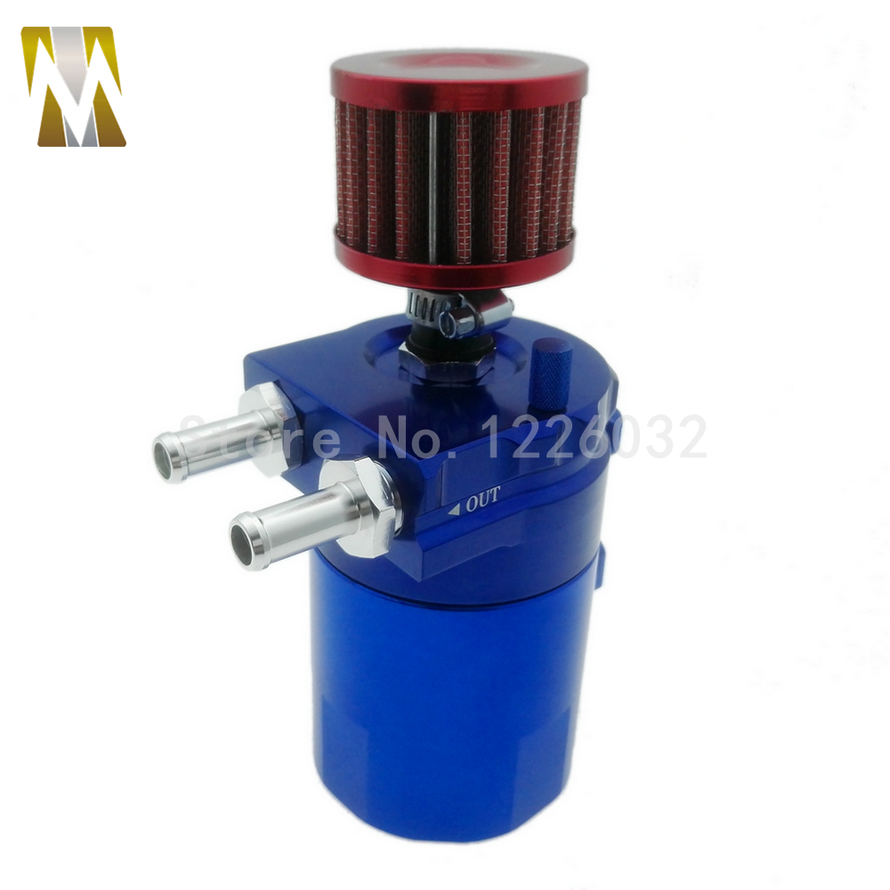 Automobile Aluminum Oil Catch Can Reservoir Tank / Oil Catch Tank With Mini Filter For Most Cars ...