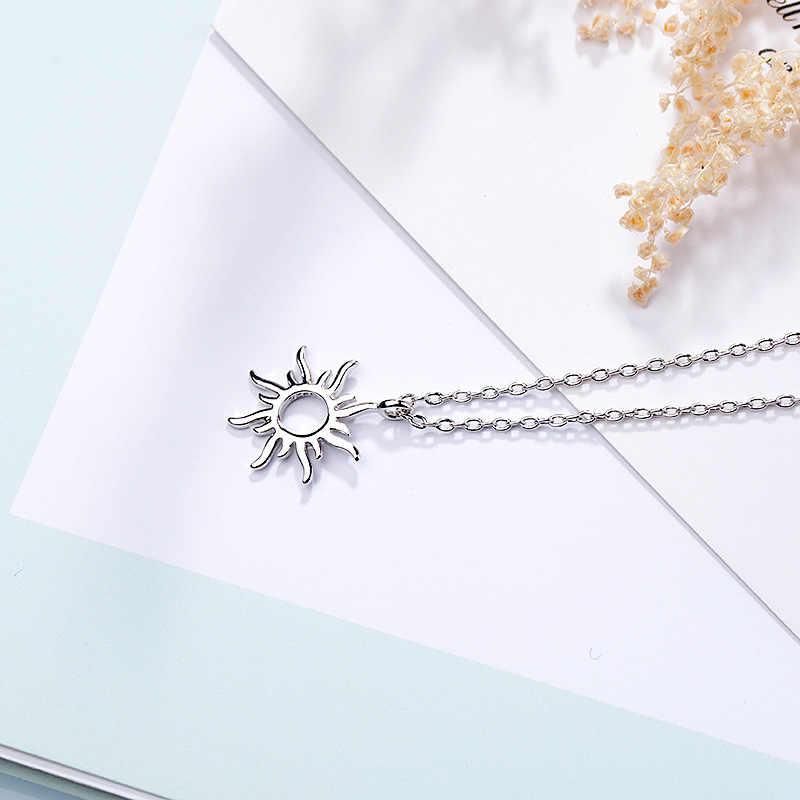 FENGLI 925 الفضة لطيف الشمس قلادة قلادة Naughty لعوب قلادة النساء عالية الجودة قلادة ل هدية عيد ميلاد
