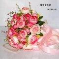 2017 Невесты Свадебный Букет Новый Дешевый Розовый Свадебные Цветы Свадебные Букеты Искусственные Свадебный Букет Роза Пион