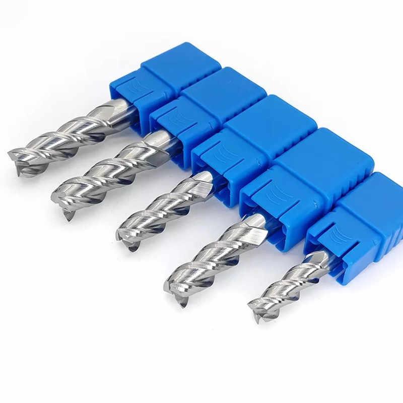 ZGT Cắt HRC50 3 Sáo Nhôm Đồng Phay Gỗ Cắt Dụng Cụ Xay CNC Cắt Kim Loại Carbide Cấp Cối Xay 4mm 5mm 6mm 8mm