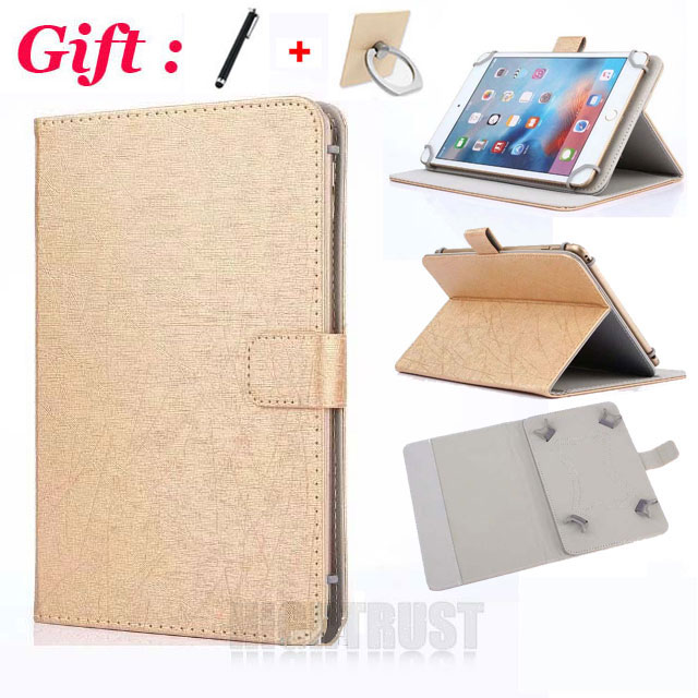 (No Camera Hole) Universal Cover For Samsung Galaxy Tab 4 8.0 SM-T330 T330/SM-T335 8 Inch Tablet PU Leather Stand Case + 2 Gifts