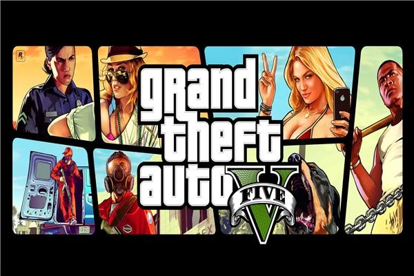 Custom Canvas Art Grand Theft Auto Poster GTA 5 San Andreas Game Wallpaper Grand Theft Wall Stickers Mural Christmas Decor #818#