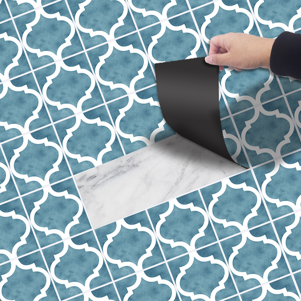 1 Roll Self Adhesive Tile Floor Wall Decal Sticker DIY Wall Brick Pattern Self-adhesive Kitchen Bathroom Decor Vinyl Wallpaper