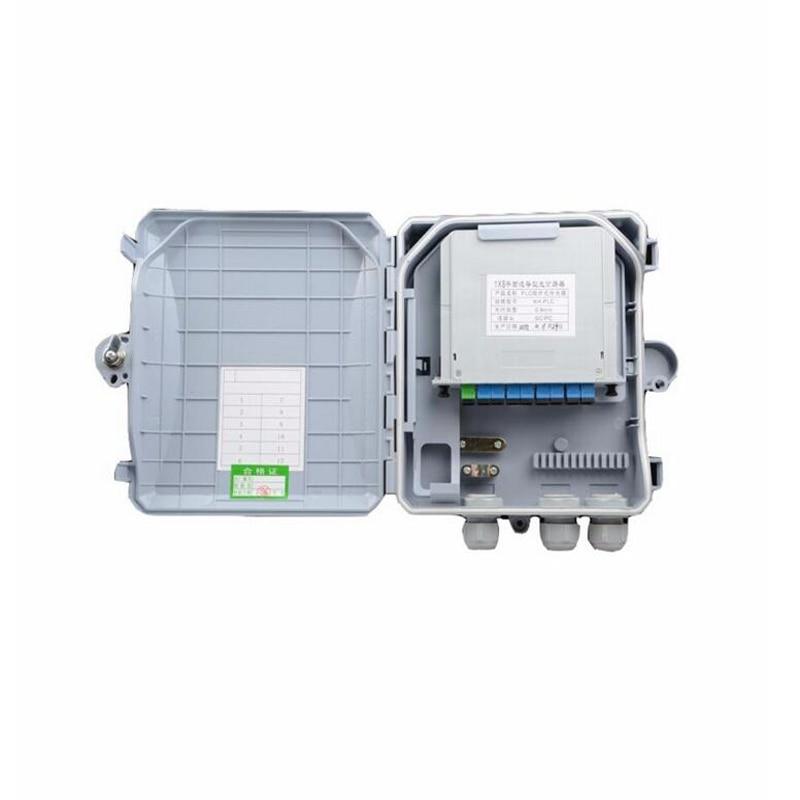 1 X 8 Core Fiber Optic Termination Box 8port FTTH optical fiber distribution box and 1X8