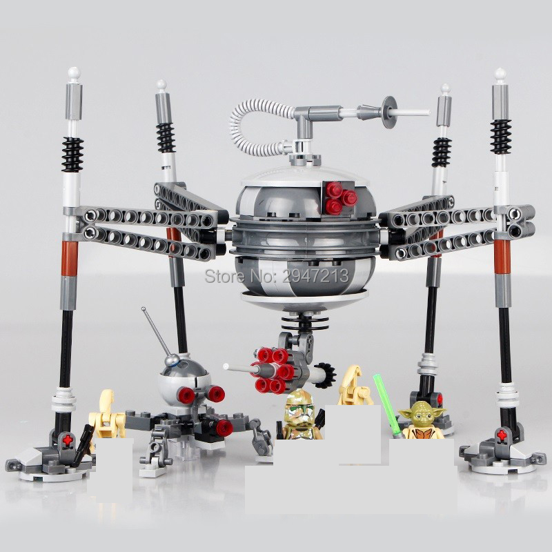 2017 hot compatible LegoINGlys Star Wars with figures weapons Building blocks  homing spider droid yoda maestro brick toys gift hot compatible legoinglys military modern warfare the u s osprey transport aircraft v 22 building blocks figures brick toys