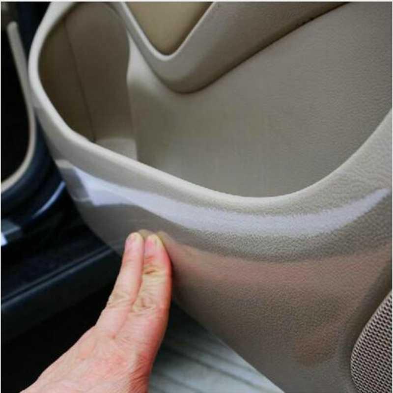 Car styling 10 cm x 3 M Rhino naklejki skóry osłona zderzaka farby folie ochronne pcv Vinyl wyczyść Transparence Film grubość 0.2mm