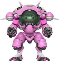 Game OW 15cm Character D.VA with Meka 6″ Buddy Vinyl Action Figure Toys for Collection