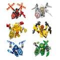 6 Шт./лот БУДУЩИЕ РЫЦАРИ Building Blocks Набор Пластиковых Кирпичей Игрушки Minifigures для Детей Совместимость с ЛЕГО