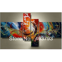 MODERN ABSTRACT HUGE LARGE CANVAS ART OIL PAINTING  abstract Phoenix dance for decoration free shipping