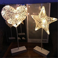 Светодиодная лампа ins для девочек  украшение в виде сердца  лампа ручной любви  звездная лампа  батарея  доставка бесплатно