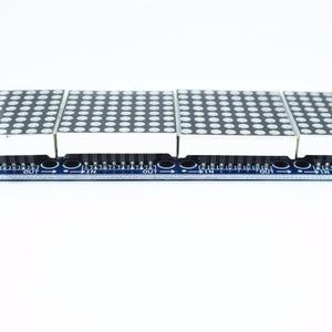 Image 4 - 10 sztuk MAX7219 moduł macierzy punktowej mikrokontroler 4 w jednym wyświetlaczu z linią 5P 4 w 1