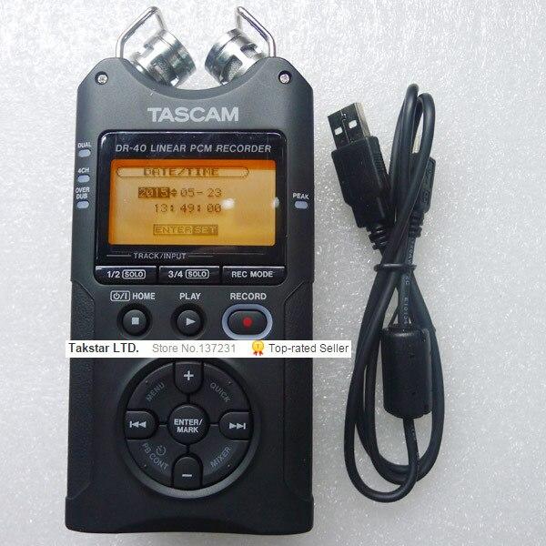 Heiße Neue Tascam Dr-40 Handheld Digital Voice Recorder Professionelle Aufnahme Stift Original Marke Großhandel Promotions Feine Kunden Zuerst Digital Voice Recorder