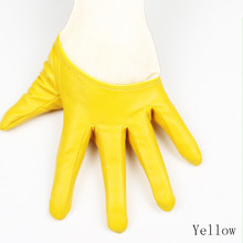 Women's Leather Sexy Cat Short Gloves